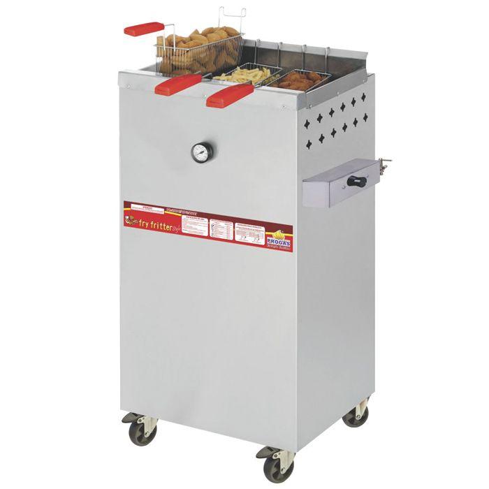 Fritador a gas a oleo e agua 20lt 3 cestos progas mod. pr-2000bpg ref. p29767