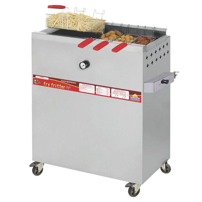 Fritador a gas oleo e agua 30lts 4 cestos progas mod. pr-3000bpg ref. p29768