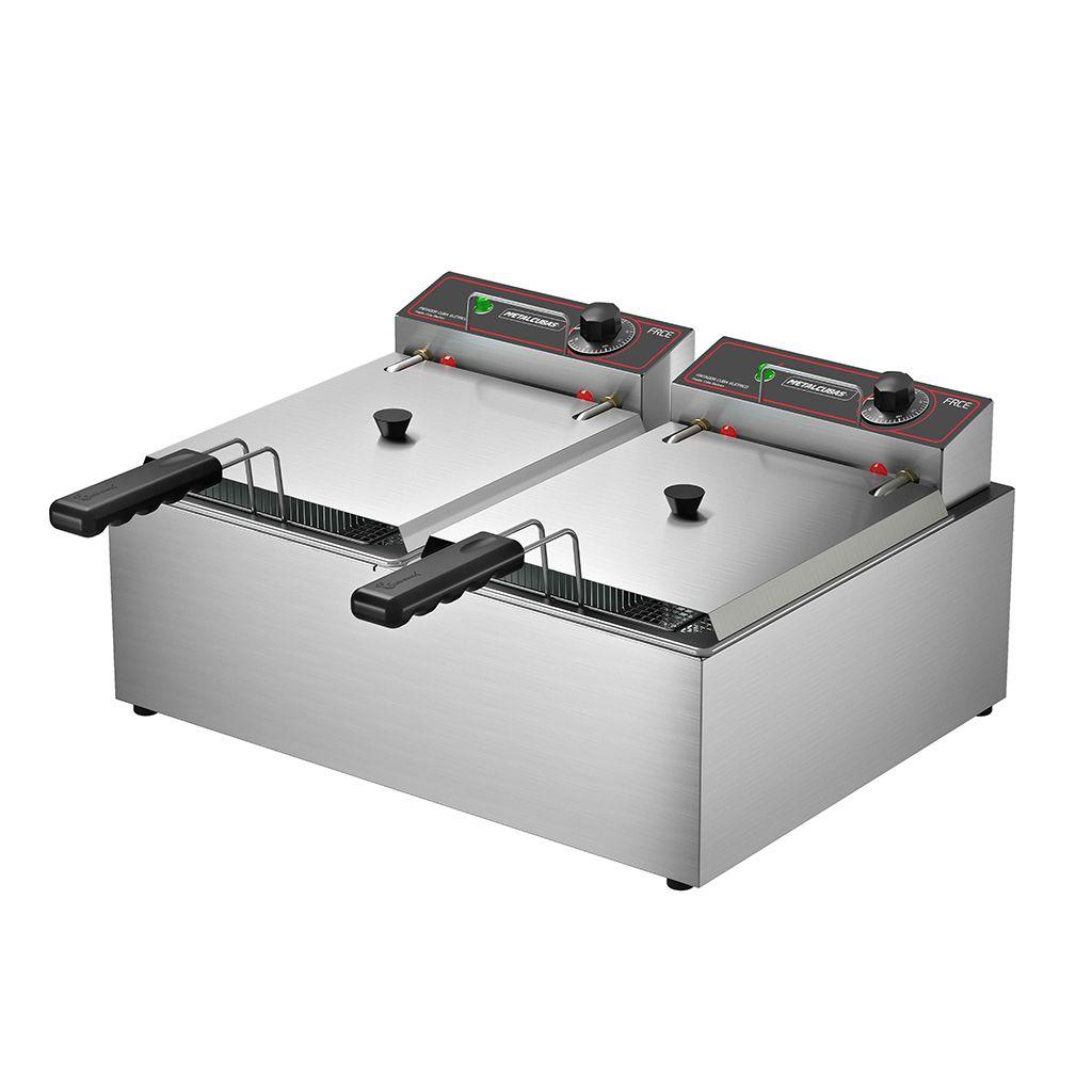 Fritadeira Elétrica Metalcubas 10L 2 Cestos FRCE10 - 220v