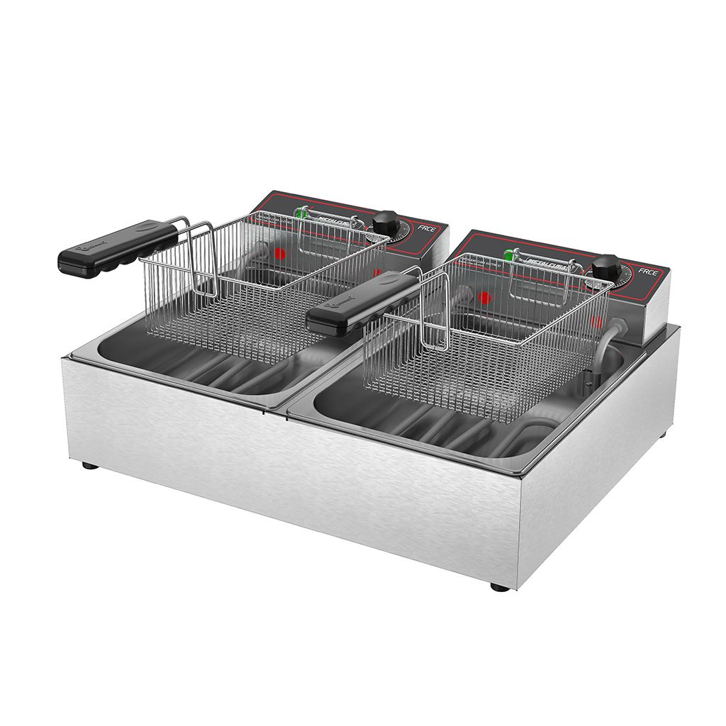 Fritadeira Elétrica Metalcubas 6L 2 Cestos FRCE06 - 220v