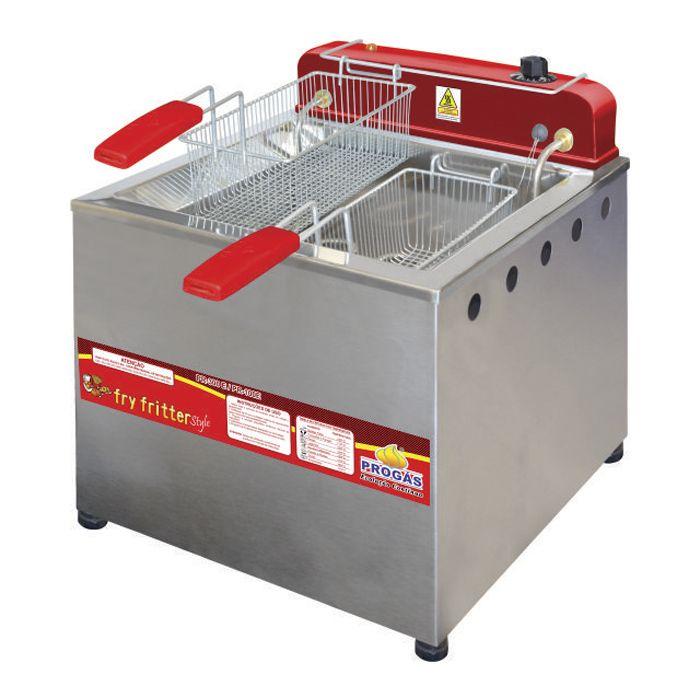 Fritador eletrico a oleo e agua 13lt 2 cestos 127v progas mod. pr-100e 30394
