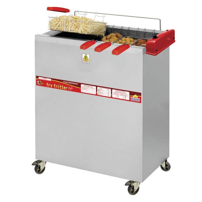 Fritador eletrico a oleo e agua 30lts 3 cestos 220v progas mod.pr-3000e p33050