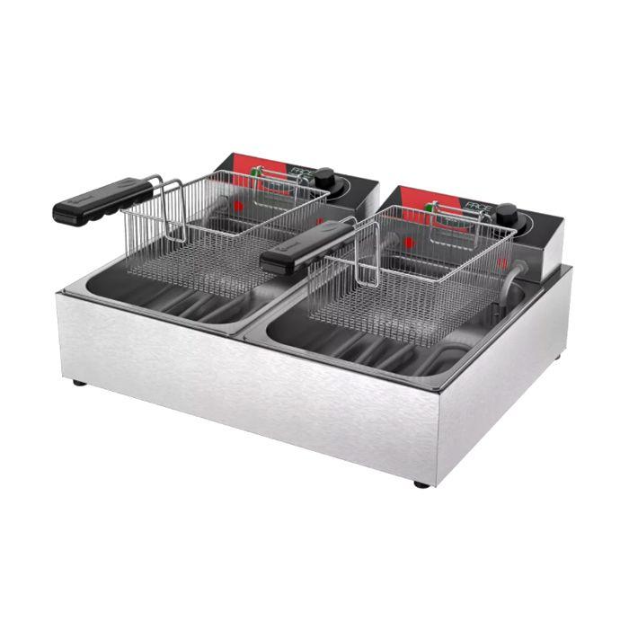 Fritador eletrico metalcubas  6lt 02 cestas 2 dep. 220v mod. frce06 ref. 10053g