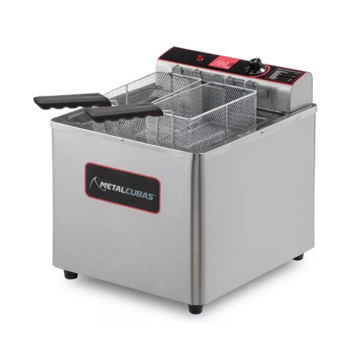 Fritador eletrico metalcubas oleo e agua 18lt 02 cestas 220v mod. gfao-18em