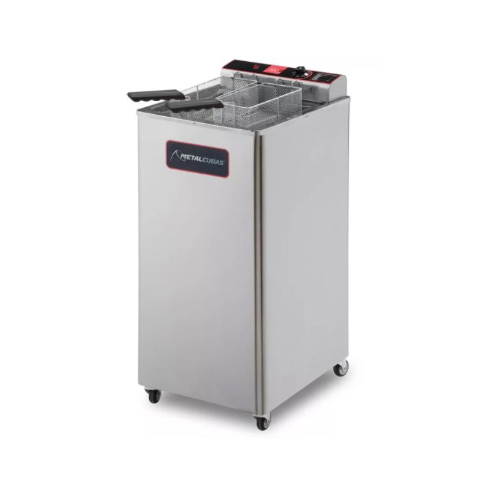 Fritador eletrico a oleo e agua 18lts 2 cestos 220v metalcubas mod. gfao-18ep