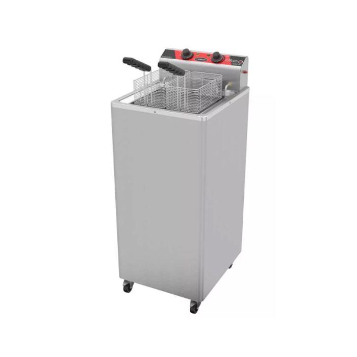 Fritador eletrico a oleo e agua 30lts 2 cestos 220v metalcubas mod.gfao30e/800