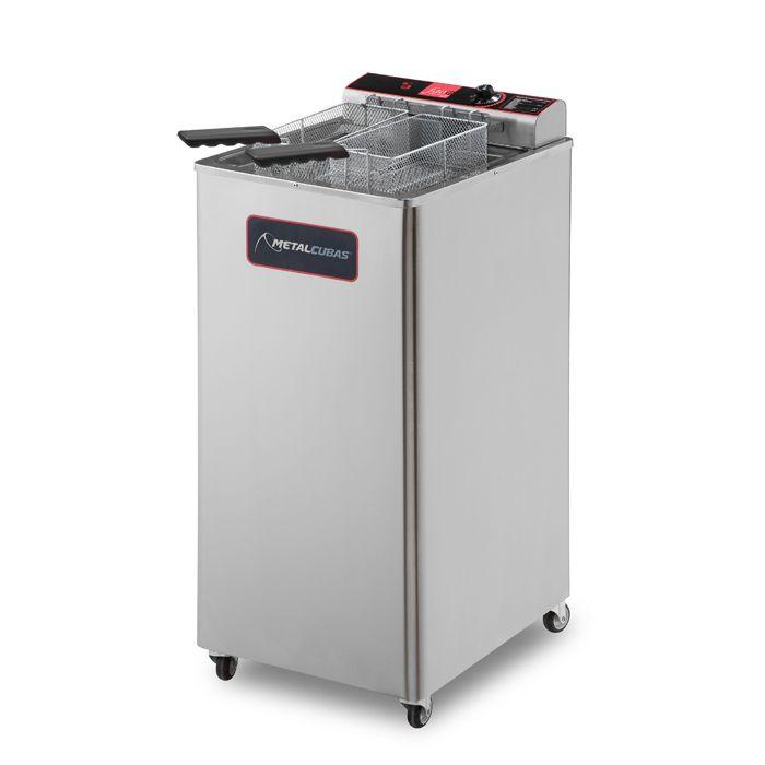 Fritador eletrico a oleo e agua 30lts 2 cestos 220v metalcubas mod. gfao-30e