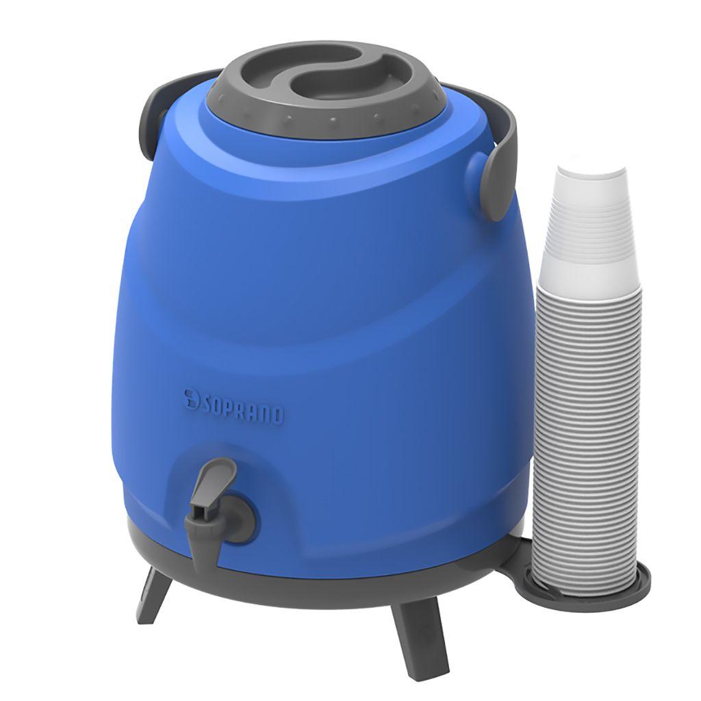 Botijão Térmico Soprano 9L Aspen Azul