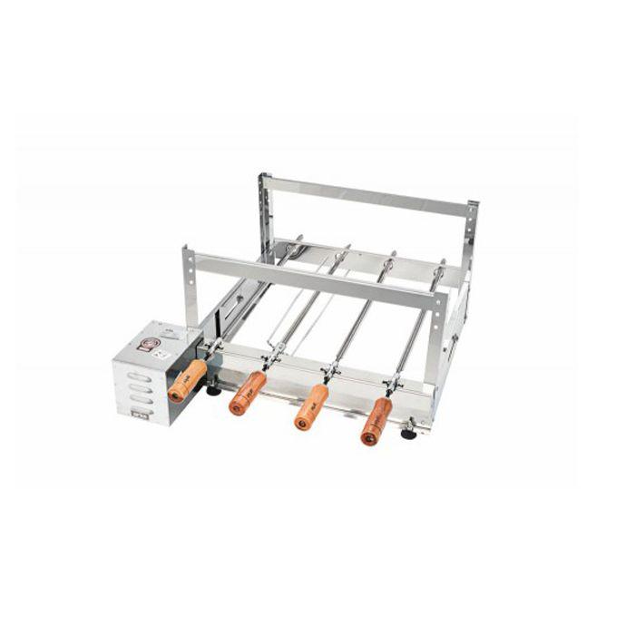 Churrasqueira Rotativa Elétrica Arke Gira Bem GBI-04 Inox 4 Espetos - 127/220v