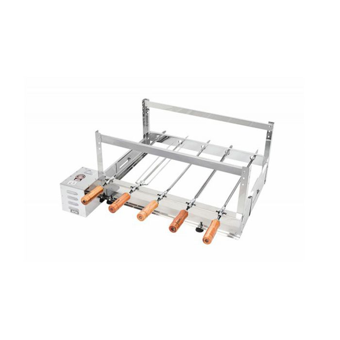 Churrasqueira Rotativa Elétrica Arke Gira Bem GBI-05 Inox 5 Espetos - 127/220v