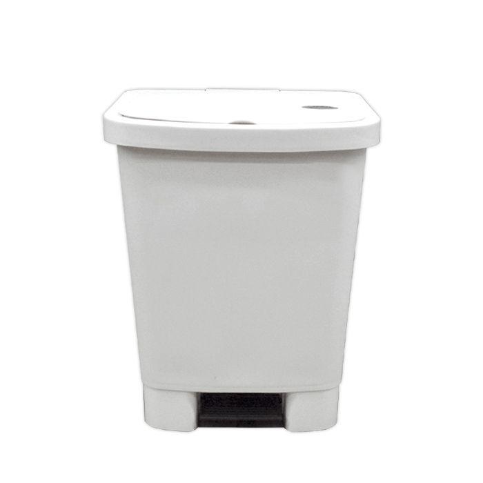 Lixeira   25lt c/ pedal della plast retangular branca ref. 4000.08