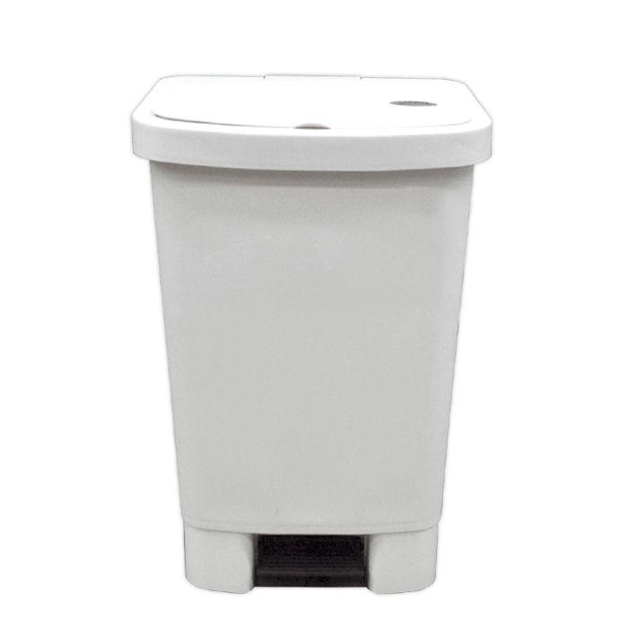 Lixeira 50lt c/ pedal della plast retangular branca ref. 1100/ 11