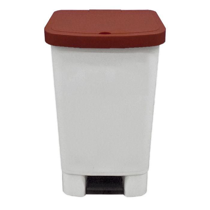 Lixeira   50lt c/ pedal della plast retangular tampa marrom ref. 0016/ 4100.21