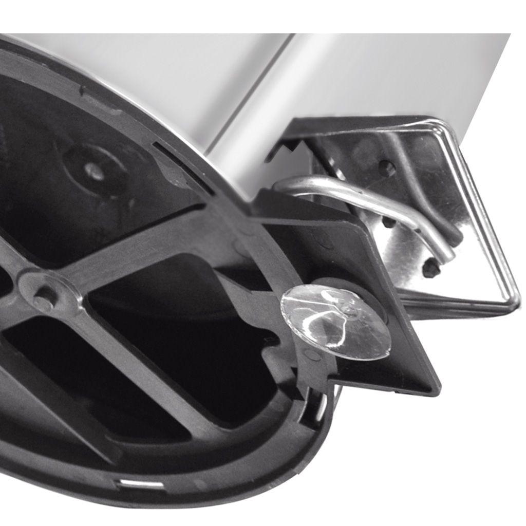 Lixeira     5lt c/ pedal inox tramontina brasil ref. 94538/105
