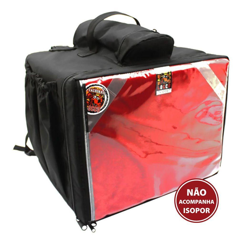 Mochila isobag 45lt 40x35x30 (pizza) (sem caixa termica) horizontal