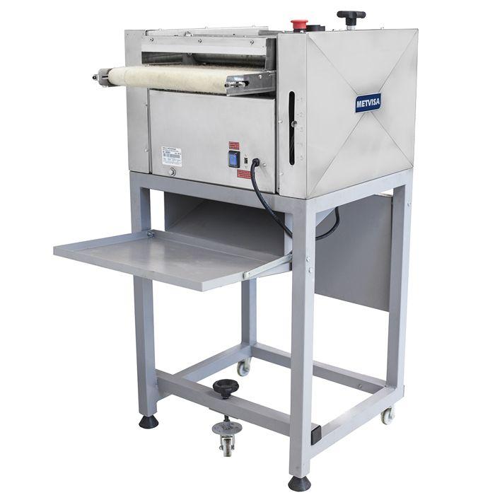 Nr-12 modeladora p/ pao 35cm 127/220v em inox c/ pedestal visa 1/3 cv mpc350