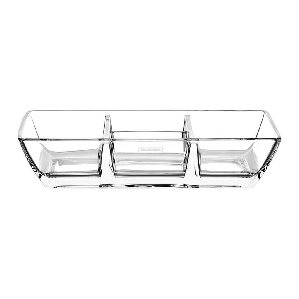 Petisqueira em Cristal com 4 Divisórias Lapidar Tramontina