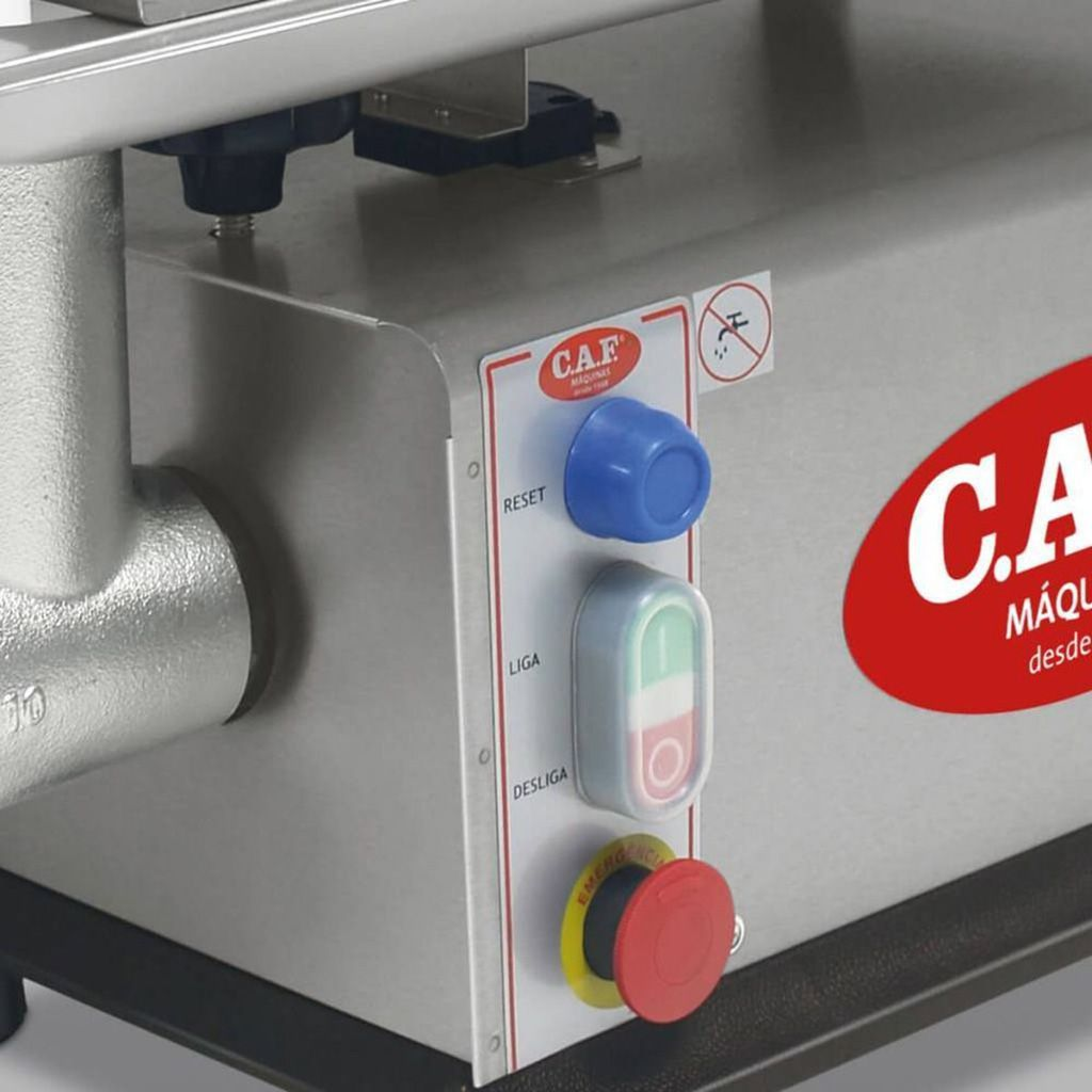 Picador de carne 1.1/4 hp caf parc. inox 127v mod.caf-22i ref. 10.25.0016 nr-12