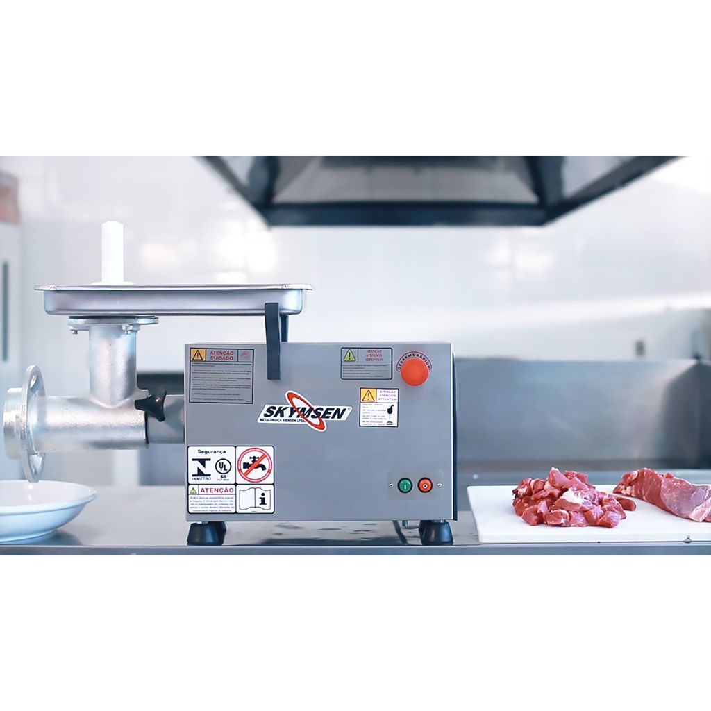 Picador de carne    1/2 hp siemsen  inox 127v mod. ps-10 nr-12
