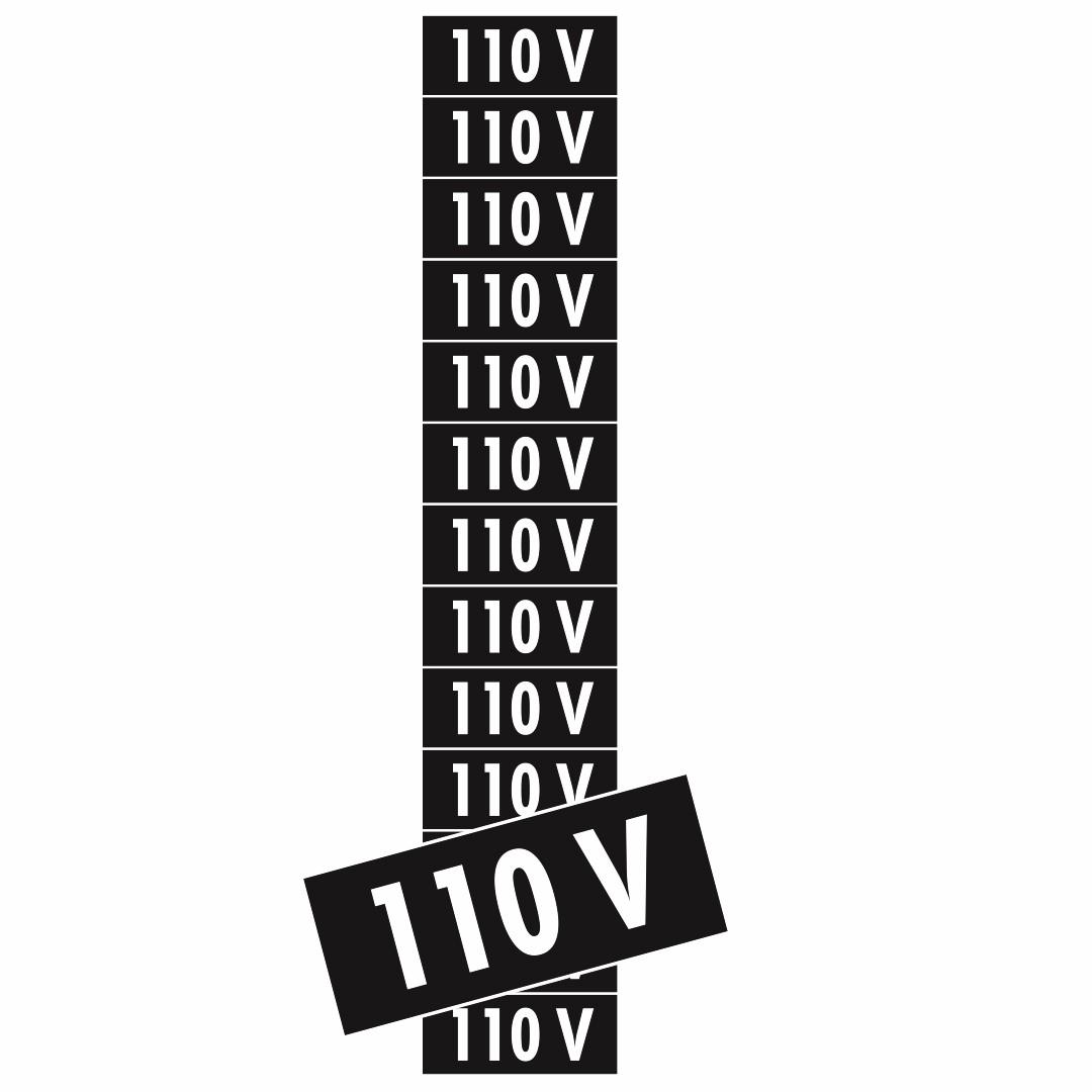 Placa 110v PS74 (1,5x3,6cm) - 13 Unidades