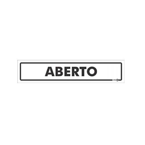 Placa Aberto PS41 (6,5x30cm)