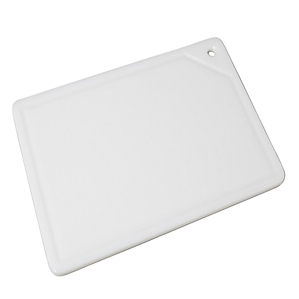 Placa De Corte Branca Com Canaleta 1 Face 1x25x37cm Pronyl