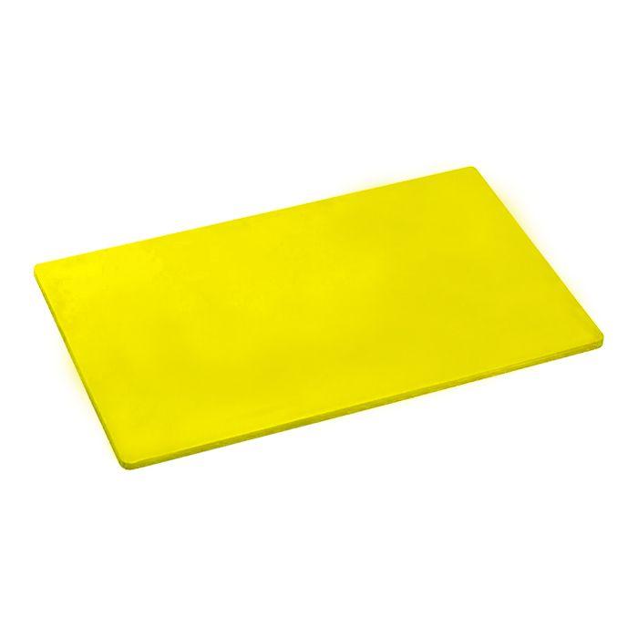 Placa de corte lisa polipropileno kitplas amarela 50 x 30 x 01cm  ref. 703