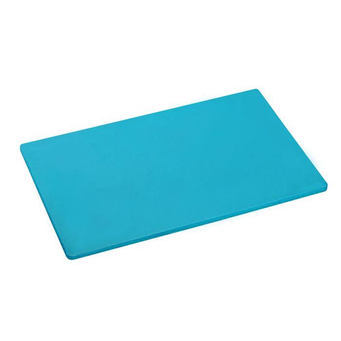 Placa de corte lisa polipropileno kitplas azul  50 x 30  x 01cm  ref. 723