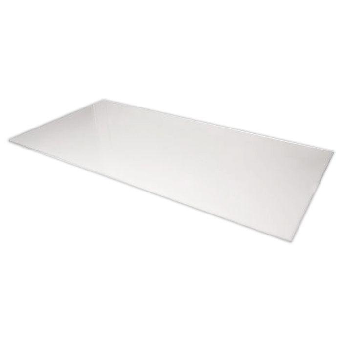 Placa de corte lisa polipropileno kitplas branca 2,00 x 1,00 x 0,15cm