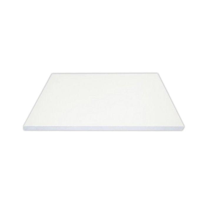 Placa de corte lisa polipropileno kitplas branca 50 x 50 x 3cm ref. 666