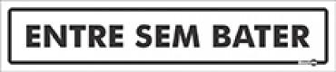 Placa Entre Sem Bater PS43 (6,5x30cm)