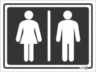 Placa Feminino/Masculino PS67 (20x15cm)