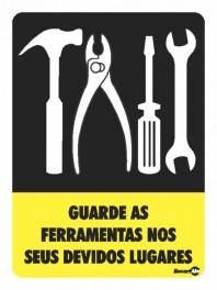 Placa Guarde As Ferramentas PS71 (20x15cm)