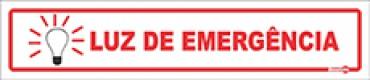 Placa Luz de Emergência PS120 (6,5x30cm)