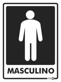 Placa Masculino PS66 (20x15cm)