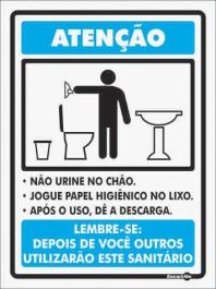 Placa Não Urine No Chão PS78 (20x15cm)