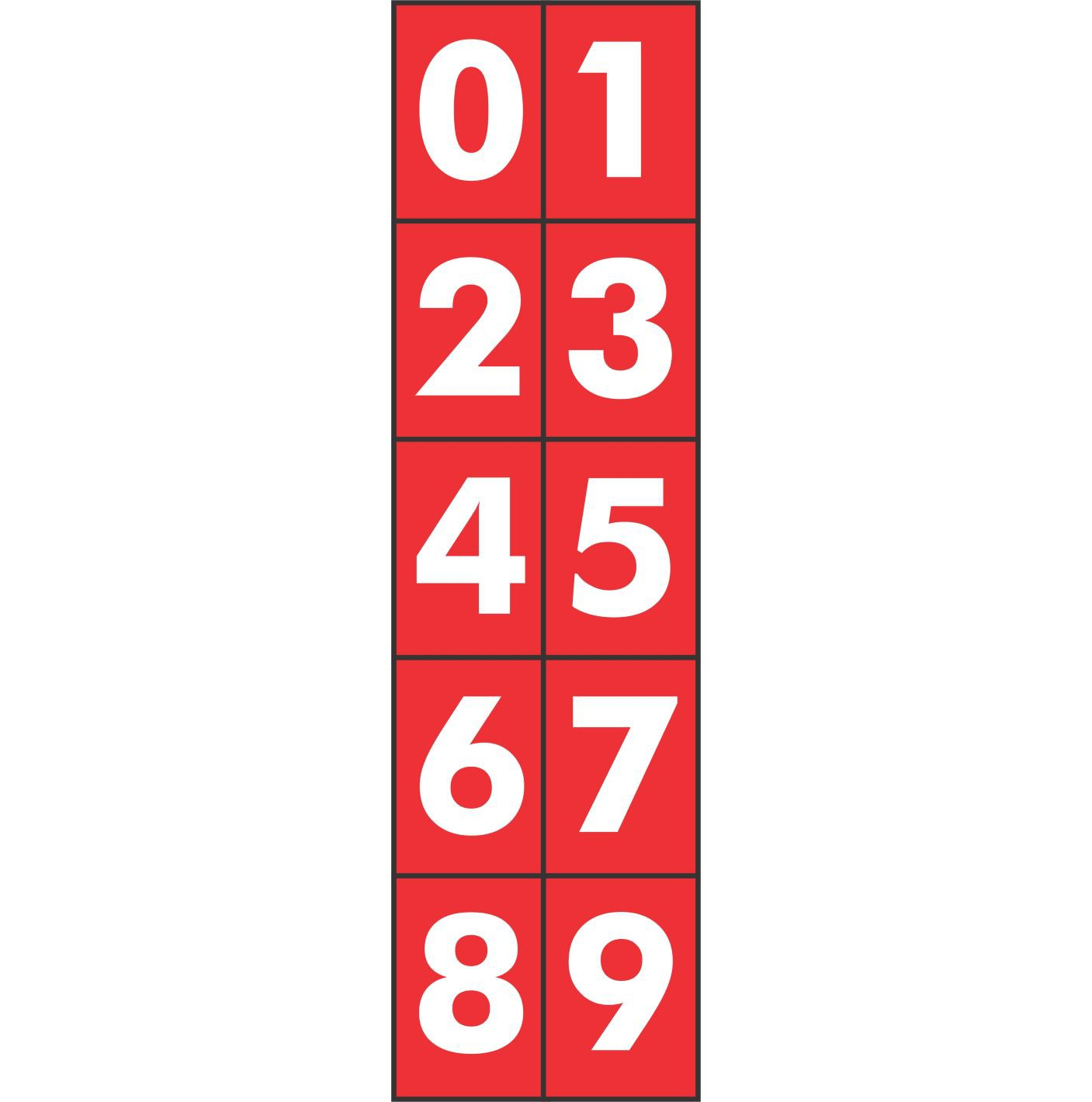 Placa Números CIPA PS803 (14,5x12,5cm)