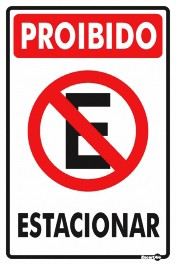 Placa Proibido Estacionar PS01 (30x20cm)