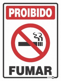 Placa Proibido Fumar PS100 (20x15cm)
