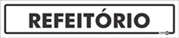 Placa Refeitório PS37 (6,5x30cm)