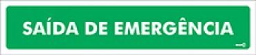 Placa Saída de Emergência PS73 (6,5x30cm)