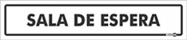 Placa Sala De Espera PS206 (6,5x30cm)