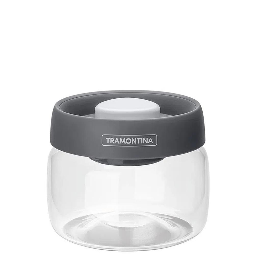 Pote de Vidro Purezza Com Tampa Plástica a Vácuo 0,4L Tramontina