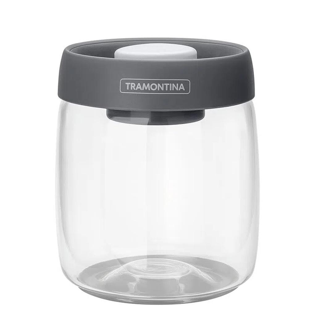 Pote de Vidro Purezza Com Tampa Plástica a Vácuo 0,8L Tramontina