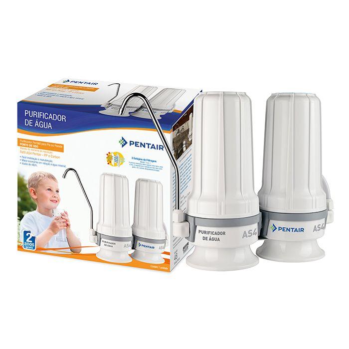 Purificador de agua natural branco 48lts/hr c/ suporte mini dual ref. 916-0006