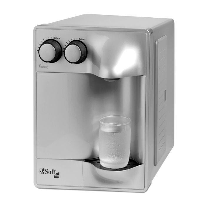 Purificador de agua everest soft slim 127v prata/prata ref. 51617