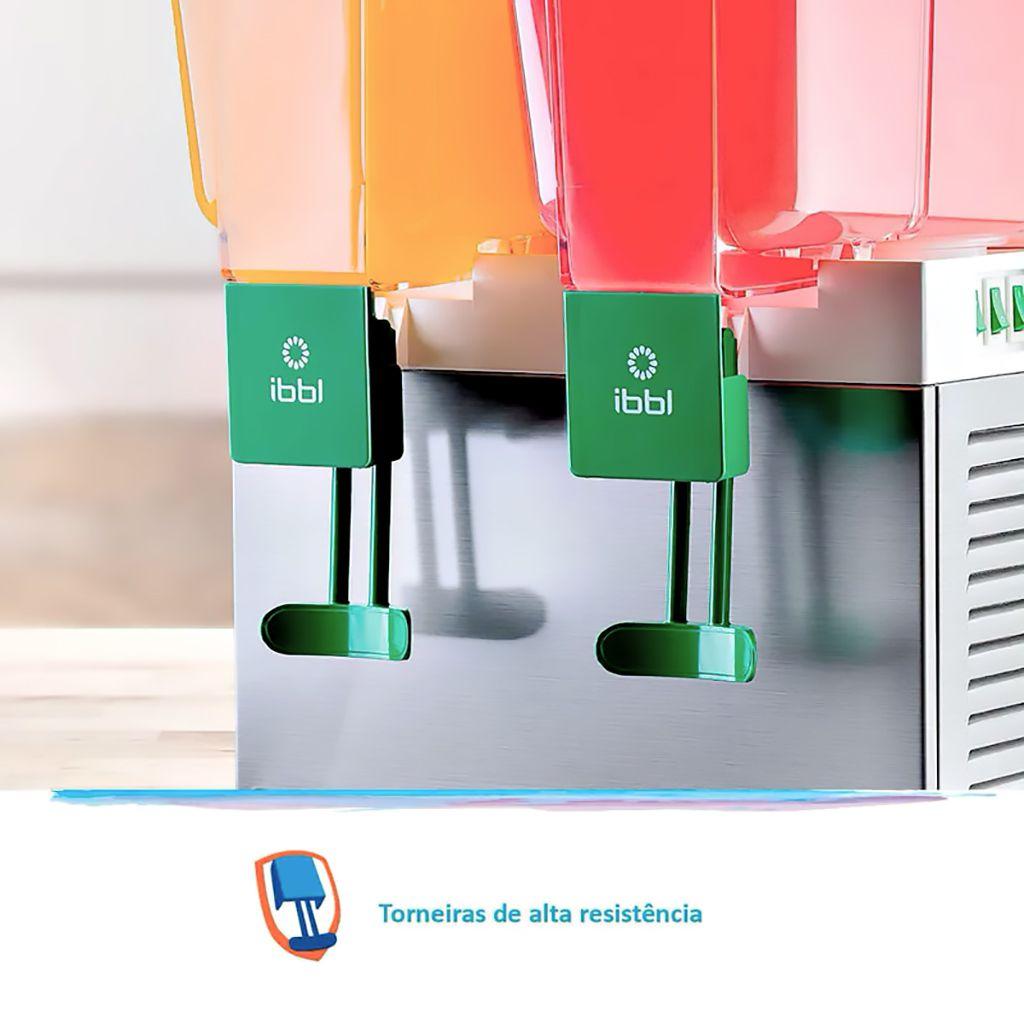 Refresqueira dupla 15lt cada bojo ibbl 127v mod. bbs-2 ref. 17111001