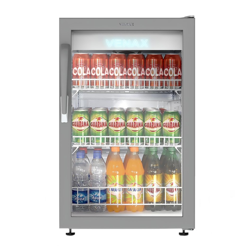 Refrigerador Expositor Para Bebidas Vertical Venax 100L VV100L Branco - 127v