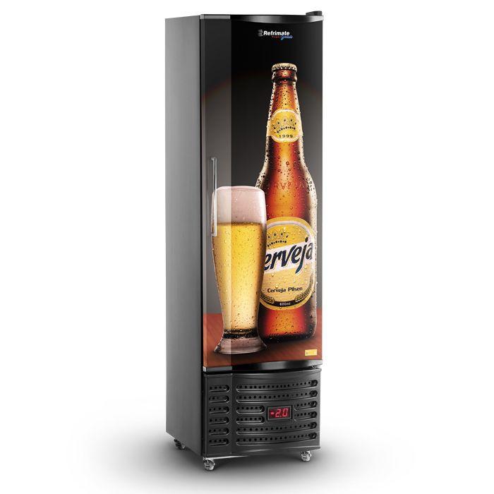 Refrigerador vert.p.cega 230lt 127v cervejeira preto refrimate mod.vcshb230