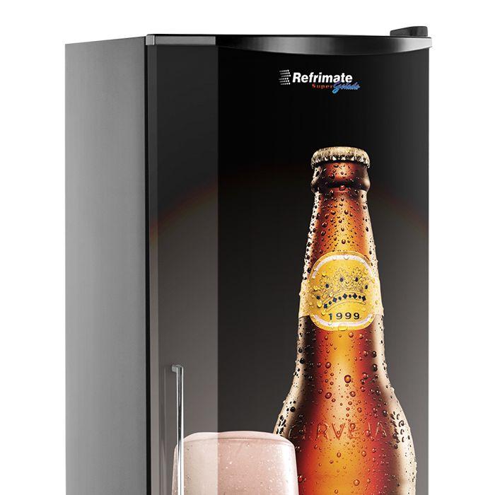 Refrigerador vert. p.cega 230lt 127v cervejeira preto refrimate mod.vcshb230